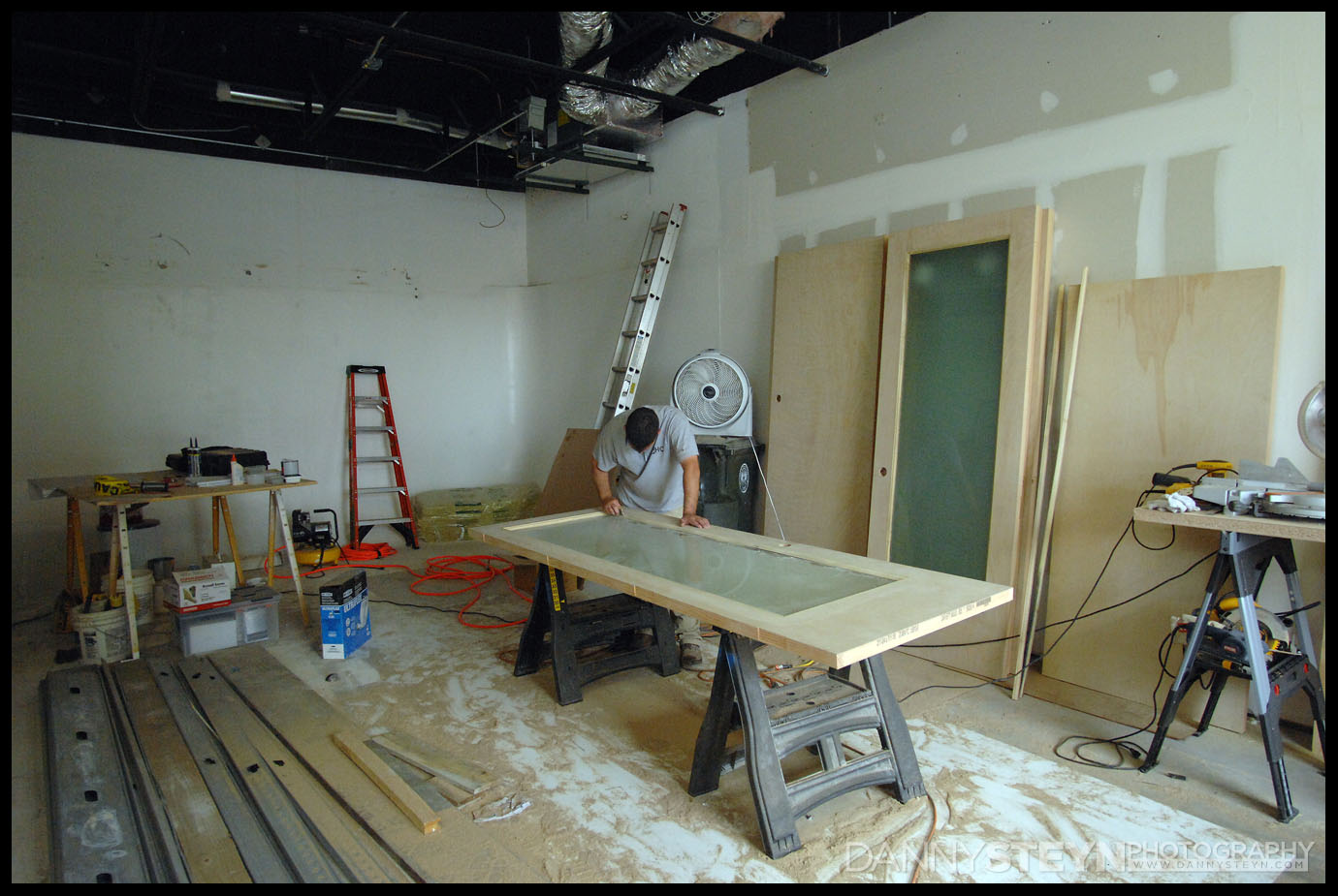 New Photography Studio construction - 8ft tall doors being custom made on site