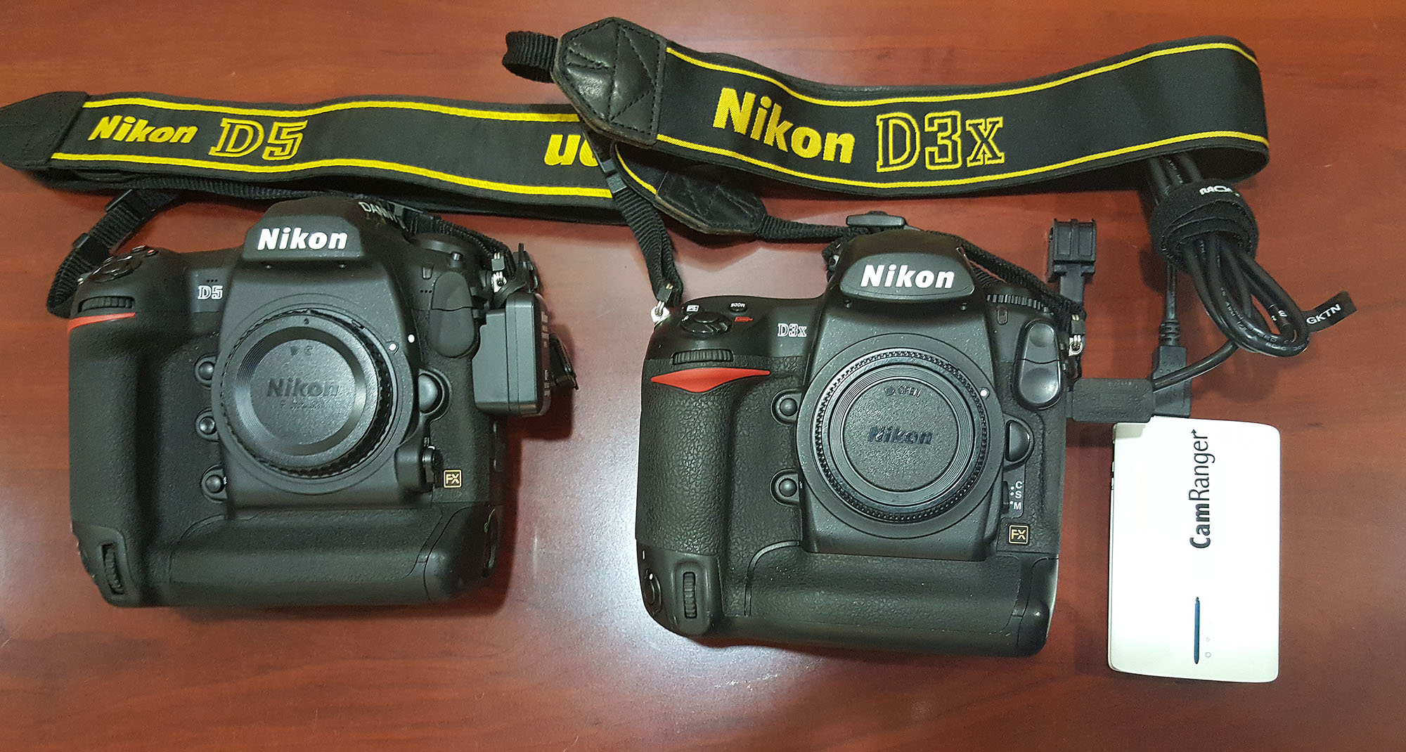 Previewing of Images on Tablets using Wireless Transmitters. Nikin D5 with Nikon WT-6A vs Nikon D3x with CamRanger